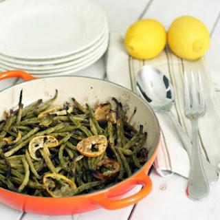 Lemon Roasted Green Beans