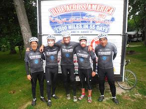 Photo: Fond du Loc WI to Manitowoc WI July 27 2013  Wearing our Trek Factory Racing Team Jerseys