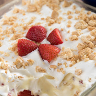 No Bake Strawberry Shortcake Dessert