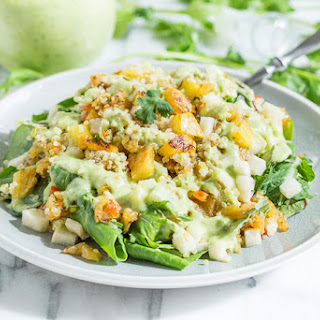 Tropical Quinoa Salad with Coconut Lime Dressing.