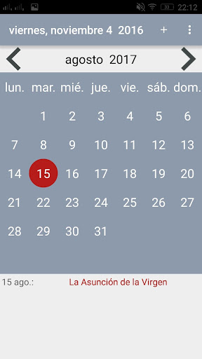Calendario Ua.Download Calendario 2017 En Espanol Google Play Softwares