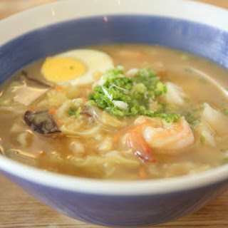 Spicy Shrimp Ramen Soup.