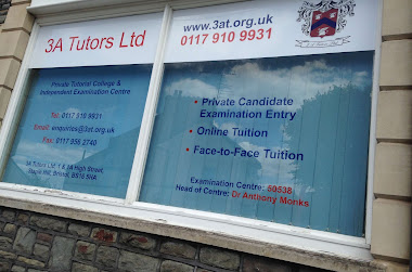 The 3A tutors window with the companies details