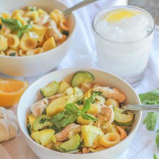 Chicken and Zucchini Orecchiette Pasta with Lemon-Butter Sauce