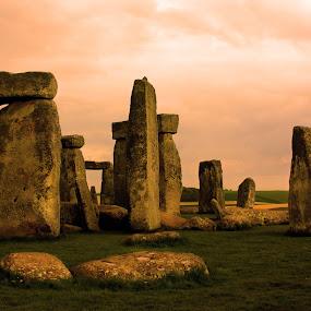 Stone Henge 2 by Trippie Visser - Travel Locations Landmarks ( stone henge, sky, grass, stones, britain )