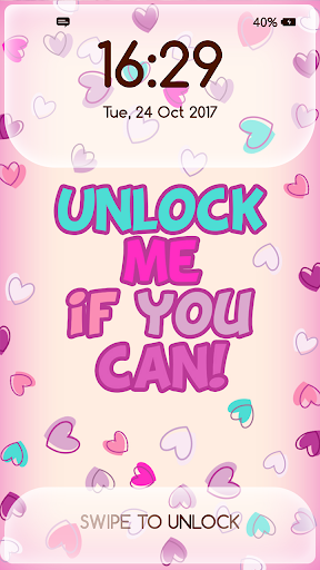 Girly Lock Screen Wallpaper with Quotes Apk 2