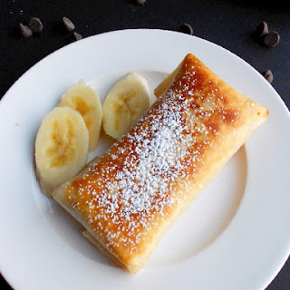 Chocolate Banana Cheesecake Chimichangas