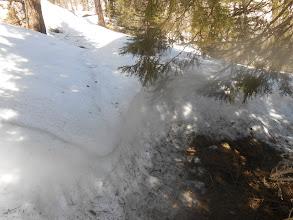 Photo: Quota 1870 mt , c'è un metro abbondante di neve marcia da tracciare per andare avanti!
