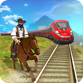 Train vs Horse Racing Game 3D : Free Game