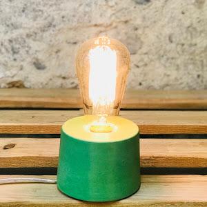 lampe béton design vert