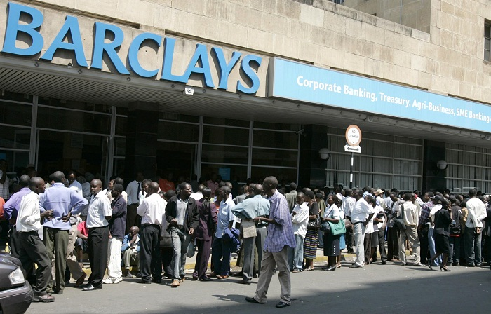 Zimbabweans queue to withdraw cash outside the Barclays bank in the capital Harare. Picture: REUTERS