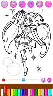 Magical Girl Coloring Book - náhled