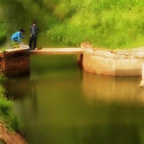 fishing by Manav . - Babies & Children Child Portraits