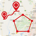 GPS Measure and Save Locations icon