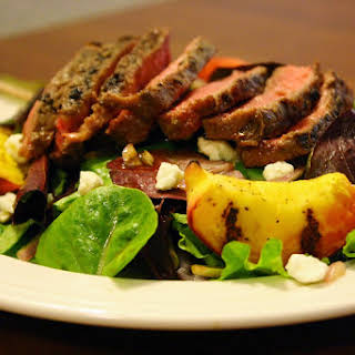 Grilled Steak And Peach Salad.
