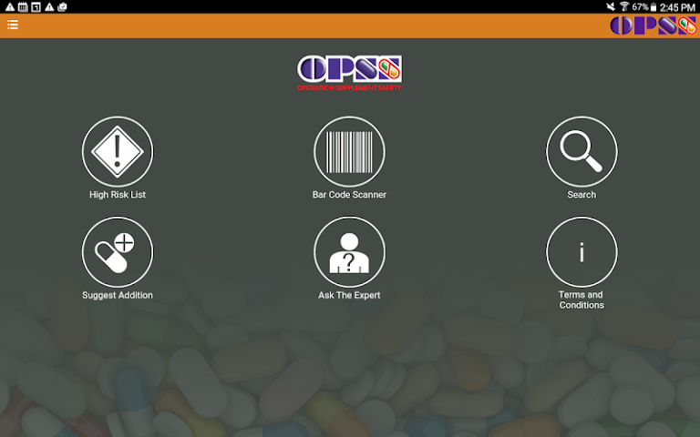 android High Risk Supplements - OPSS Screenshot 3