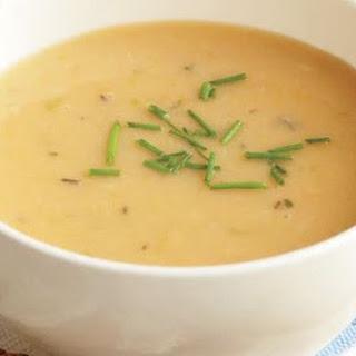 Creamy Bean, Potato, And Roasted Garlic Soup