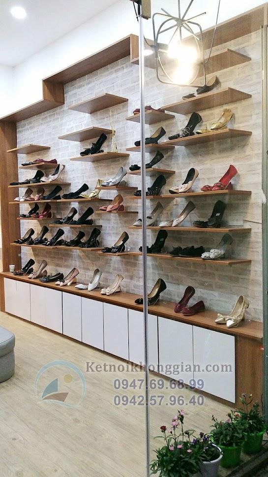 thi công shop giày dép đẹp tại Hà Nội