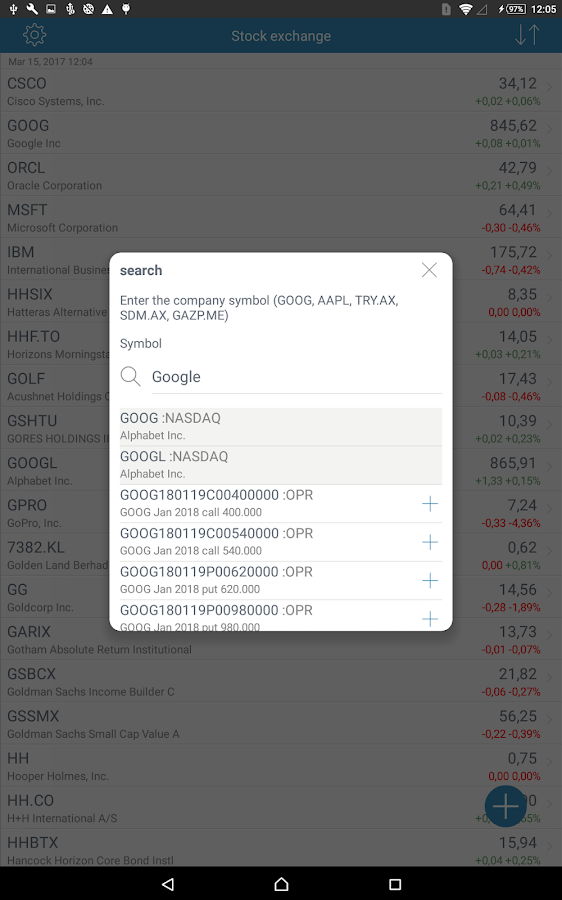Stock Exchange- screenshot