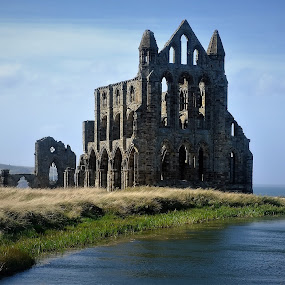 Whitby Abbey by Graham Sivills FBCS - Buildings & Architecture Public & Historical ( abbey, yorkshire, whitby, whitby abbey, ruin, lake )