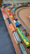 Photo: Getting the circus train...and others, ready for a days run.