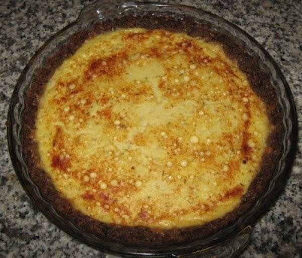 Mushroom-crust Quiche Recipe