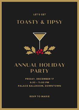 Toasty & Tipsy - Christmas Card item