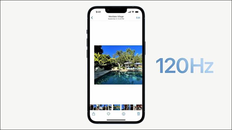 Màn hình iPhone 13 Pro ProMotion 120 Hz siêu mịn