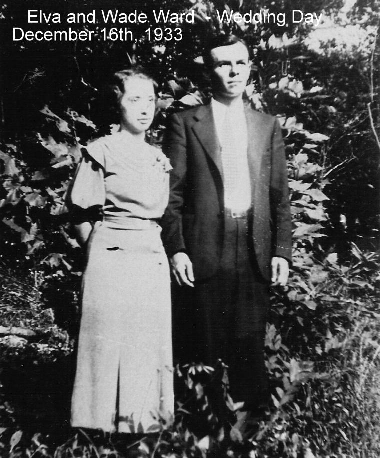 Photo: Elva and Wade Ward, Wedding Day, December 16th, 1933. http://CanaanUMC.net