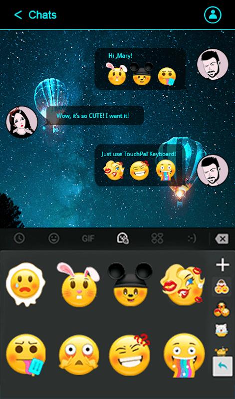 Simple Neon Blue Future Tech Keyboard Theme screenshots