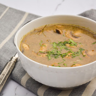 Creamy Mushroom and Wild Rice Soup.