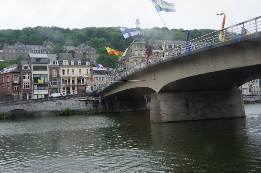 Charles de Gaulle bridge, Dinant, Belgium (2014)