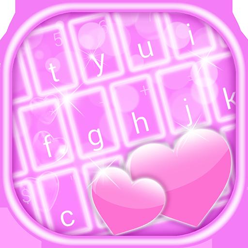霓虹粉红色的键盘 個人化 App LOGO-APP開箱王