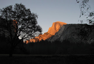 Photo: Half Dome does get really orange-red like that at this hour in the Fall. #1766.