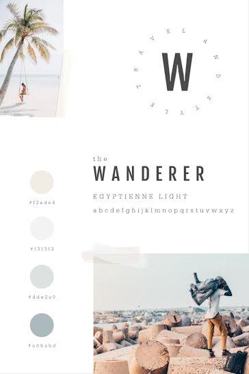 The Wanderer Brand Board - Brand Board Template