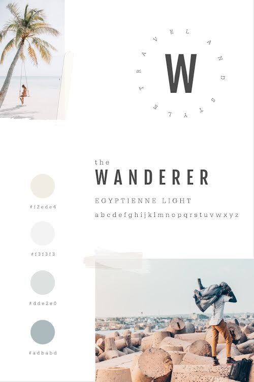 The Wanderer Brand Board - Brand Board Template
