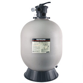 a gray Hayward pool sand filter