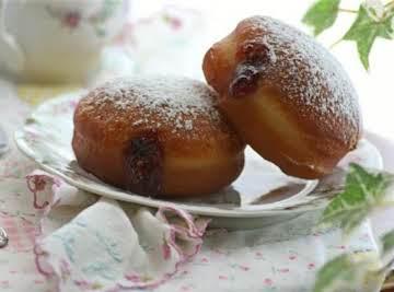 Raspberry Jam-Filled Doughnuts