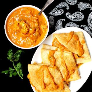 Cauliflower Makhani Dosa Crepes.