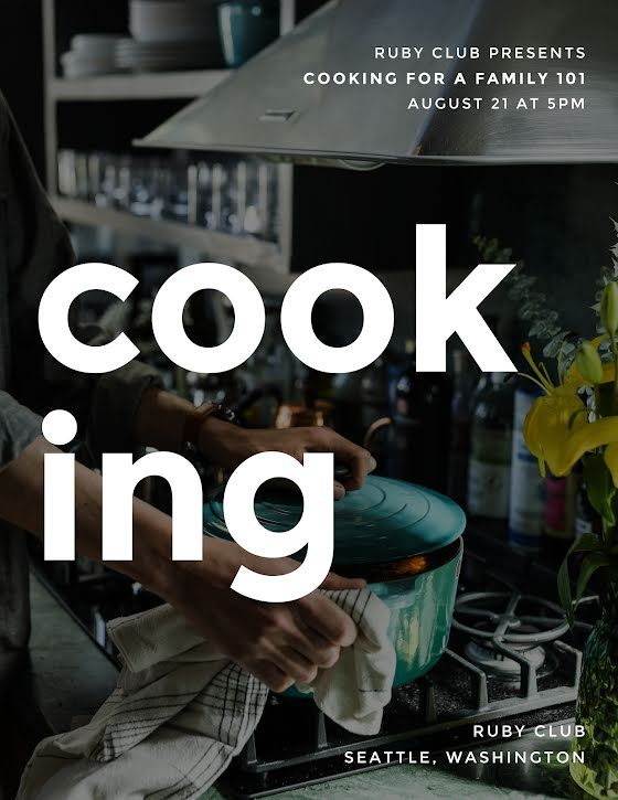 Cooking for a Family - Flyer Template