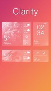 Clarity GO Weather Widget Theme - náhled