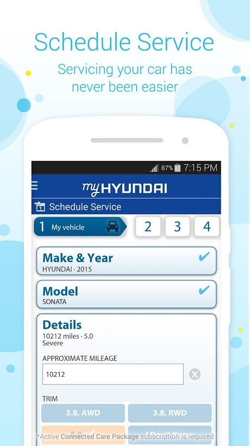 MyHyundai with Blue Link- screenshot