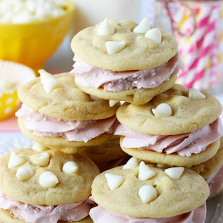 Lemon Raspberry Cookie Sandwiches.