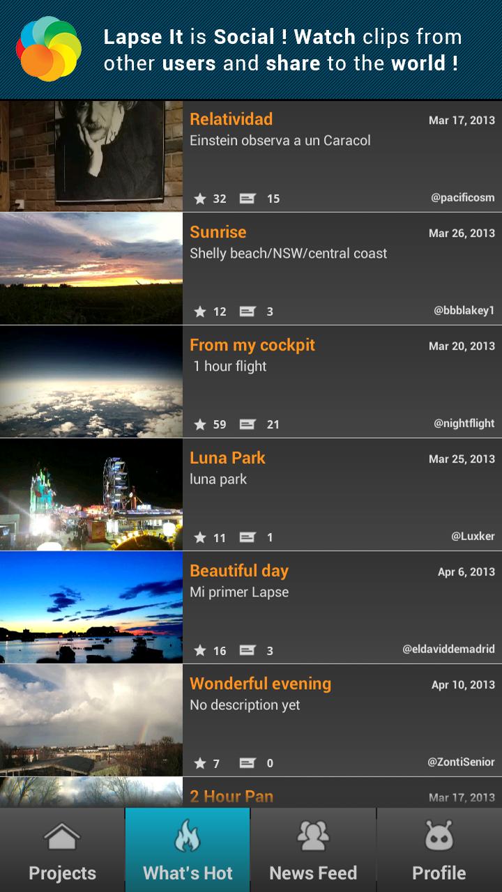 Скриншот Lapse It • Time Lapse Camera