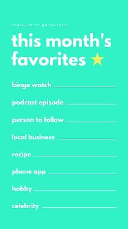 This Month's Favorites - Instagram Question item