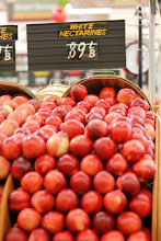 Photo: This is a really good price for nectarines, don't you think? White nectarines are one of my favorites, they are super juicy and sweet.