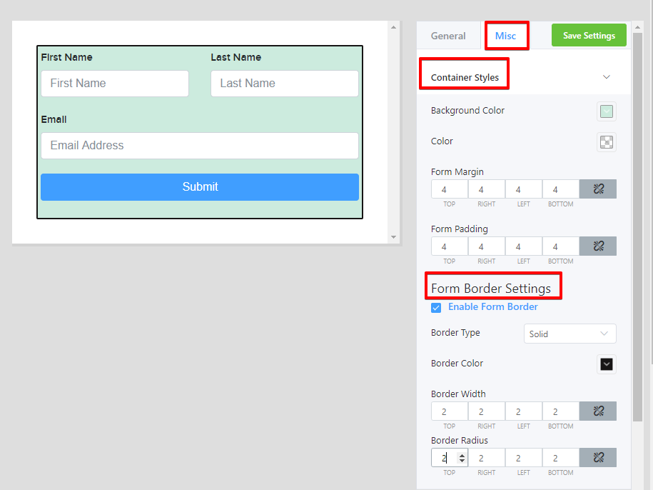opt-in forms for WordPress, WP Fluent Forms