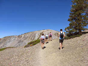 Photo: Looking west for our first view of Mt. Baldy summit (10,064')