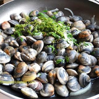Steamed Clams Recipe, vongole in padella