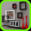 Simple Wall Shelf Design icon